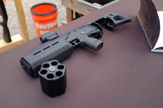 Crye SIX12 with silencer breaching shotgun