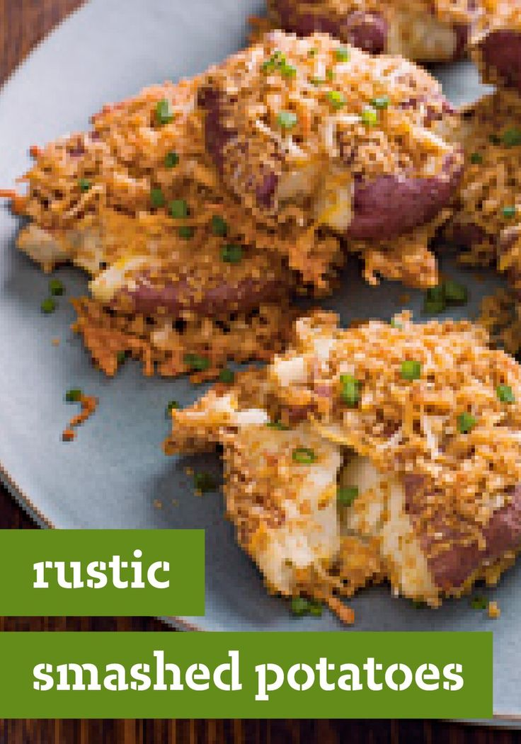 Rustic Smashed Potatoes – Smashed red potatoes get their rustic ...
