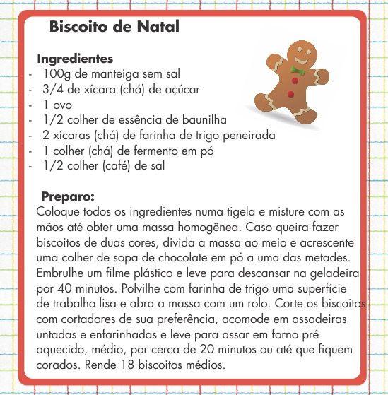 biscoitos de natal receita - Pesquisa do Google
