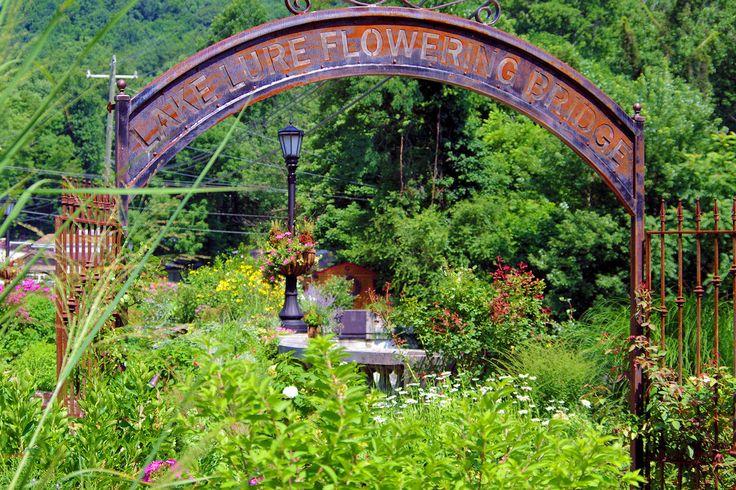 Lake Lure Flowering Bridge near Chimney Rock NC