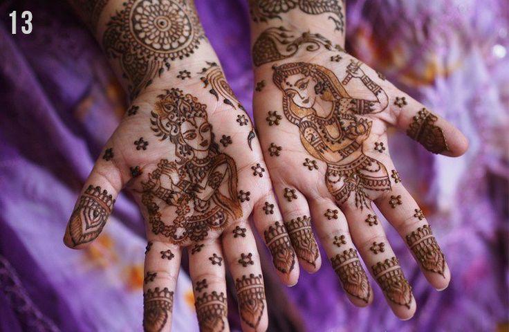 Radha krishna mehndi design
