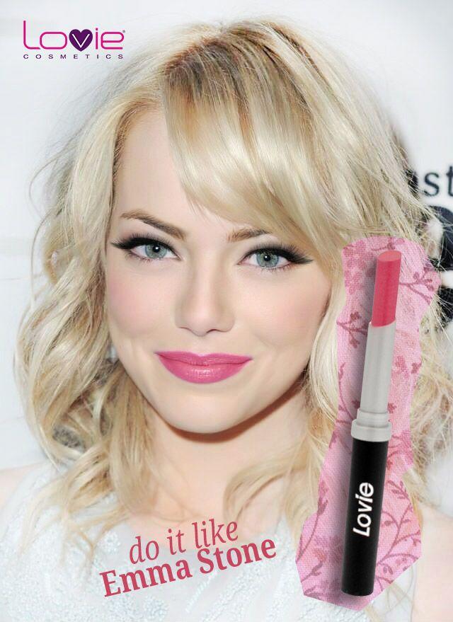 Φορέστε #Pink #Beauty #lipstick όπως η #emmastone ! #SummerStyle #summer  #lovie #girly