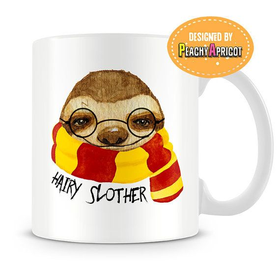 This mug for those of us who love sloths and Harry Potter.