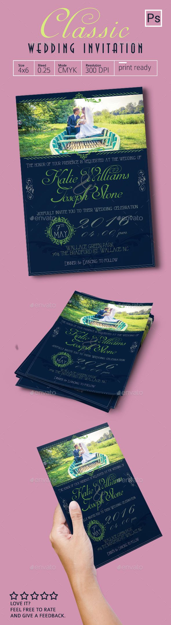 Classic Wedding Invitation - Weddings Cards & Invites