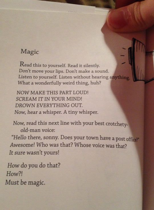 Read this to yourself…