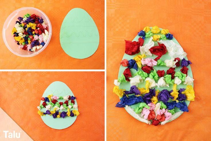 basteln an ostern im kindergarten  einfache bastelideen