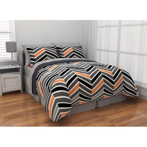 Latitude Zig Zag Neon Bed-in-a-Bag Bedding Set - I just bought this for Cameron!