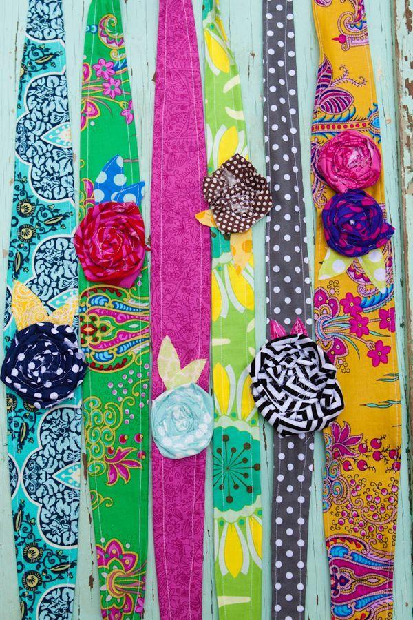 Easy fabric headbands. Doin' it.