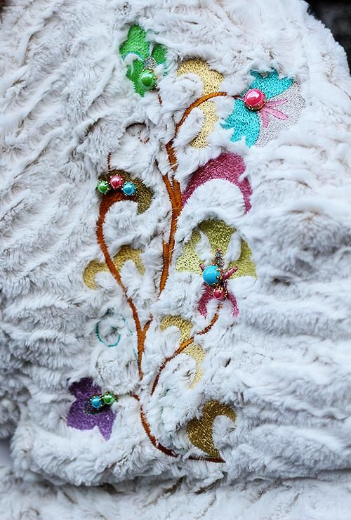 Embroidered cape - detail  #jennyjeshko #embroidery #cape #coat #handmade