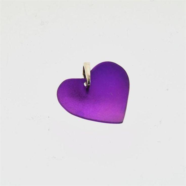 Titanium Pendant Purple Heart, #valentinegift, Symbol of Love, Jewelry Gift, Giampouras Collections #titanium #heart #jewelry