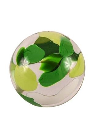 Abby Modell Small Paper Weight, Green Swirl