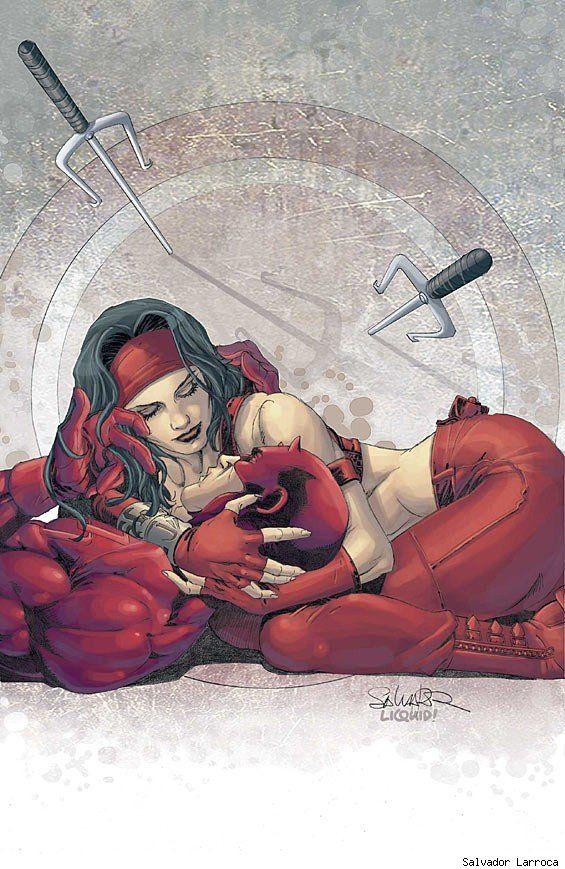 Elektra & Daredevil by Salvador Larroca