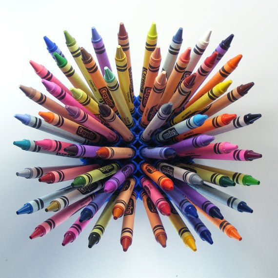 Crayon Holder  ColorBlast 64 Crayon Heads Up Display by MeshCloud    This is awesome!