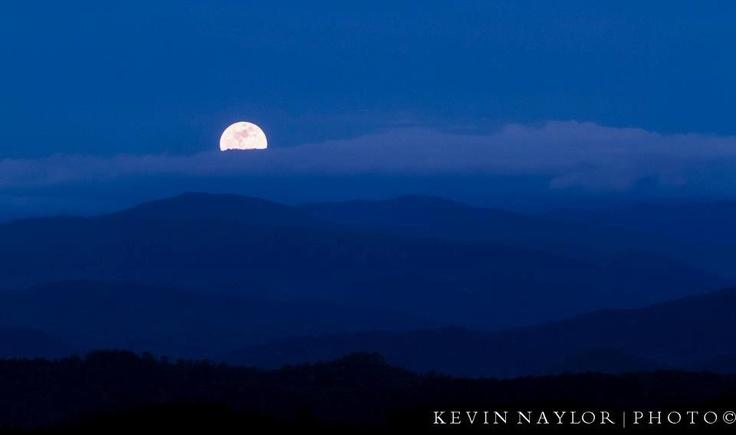 Super Moon over Smoky Mountains  May, 2012: Smoky Mountain