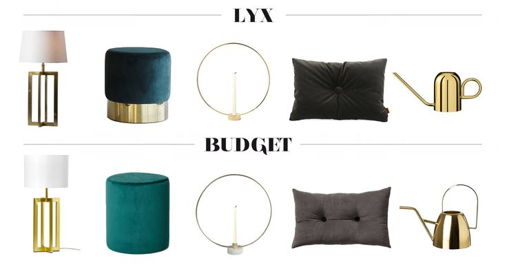 Inredning : Lyx vs. Budget / Luxury vs. Budget / Interior / Blog post ideas
