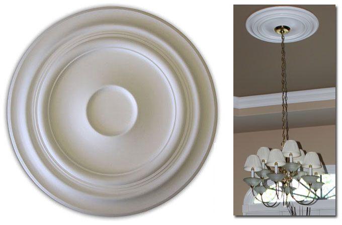 Foyer Ceiling Medallion : Wishihadthat light fan ceiling medallion ready for paint
