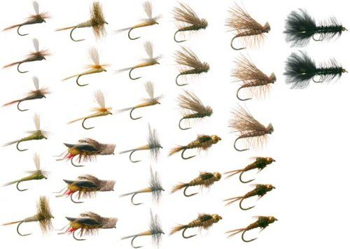 Eastern Trout Fly Fishing Flies Collection 32 Flies   Fly Box *** Be sure to check out this awesome product.