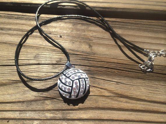 Joyería de voleibol voleibol collar collar de diamantes de | Etsy 7,74