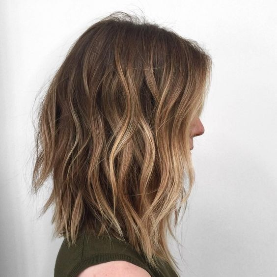 Cute cut! Ombre, Wavy Lob Hair Cuts - Shoulder Length Hairstyles for Women