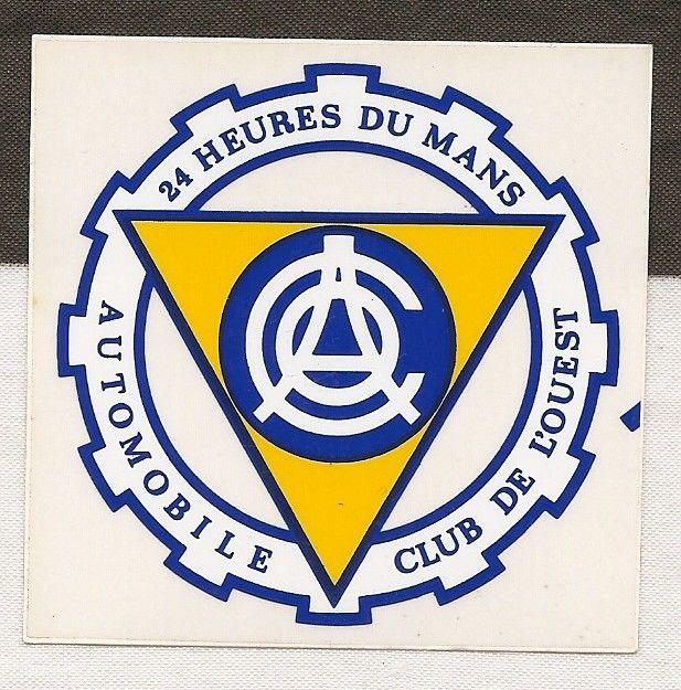 A C O L Automobile Club De L Ouest Stickers 24 Hr Lemans Racing Cars 24 Du Mans Car Emblems Car Exterior Styling Badges Decals Emblems