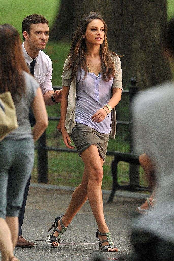 Great shoes and everything else. Yeah like I'd look this good. But a reminder to wear heels with a skirt!  Mila Kunis Style Pictures and Profile
