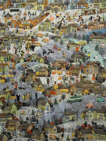 This is an impressive quilt: Landscape Art Quilts, Sekita Quilts, Landscape Quilts, Applied, Yoko Sekita, Amazing Quilts, Keepsake Quilts, Favorite Quilts, Impressions Quilts