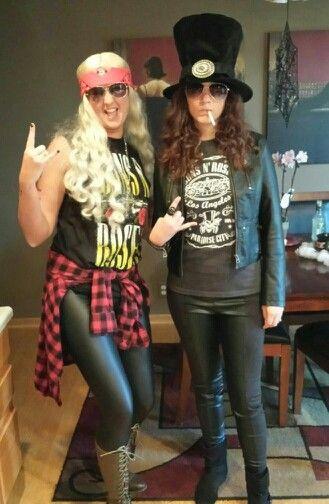 Slash and Axl Rose Halloween costumes!