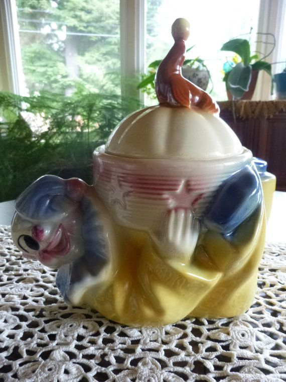 Vintage Shawnee Pottery JoJo the Clown Cookie Jar by LostEra, $275.00