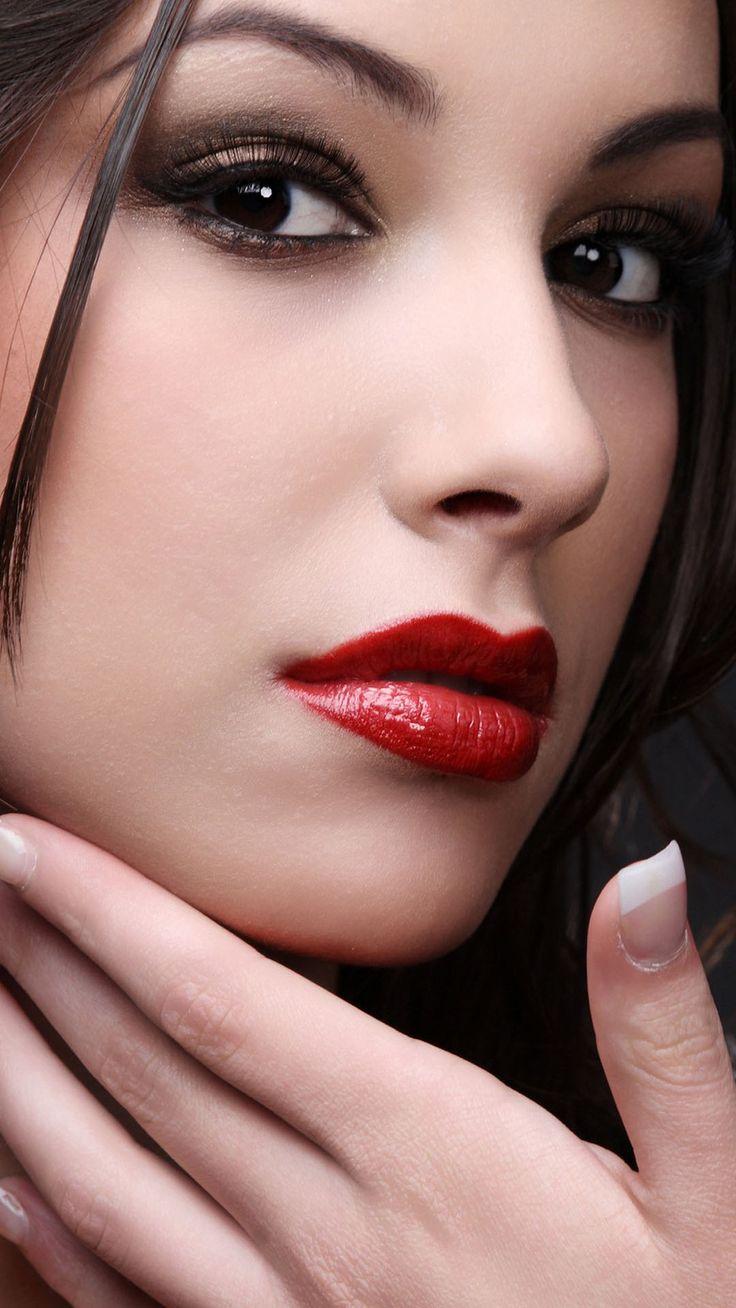 Mac Red Lipstick Portrait #iPhone #6 #plus #wallpaper
