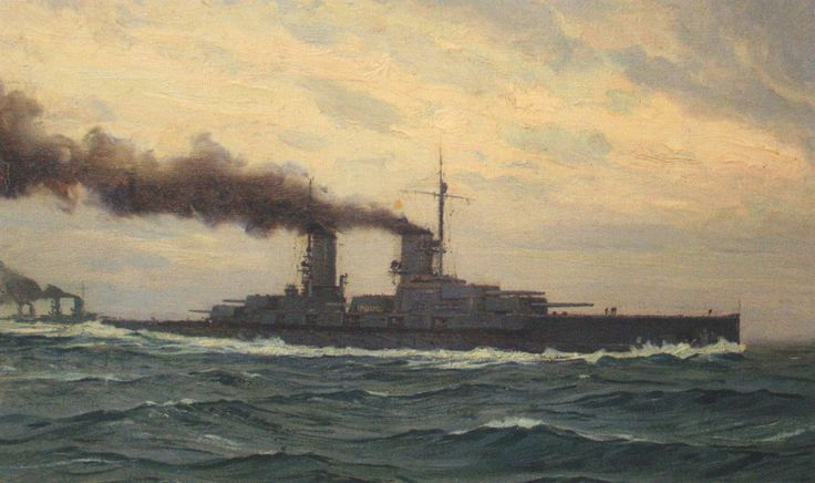 German Battleship SMS Grosser Kurfürst. Grosser Kurfürst fought at the Battle of…