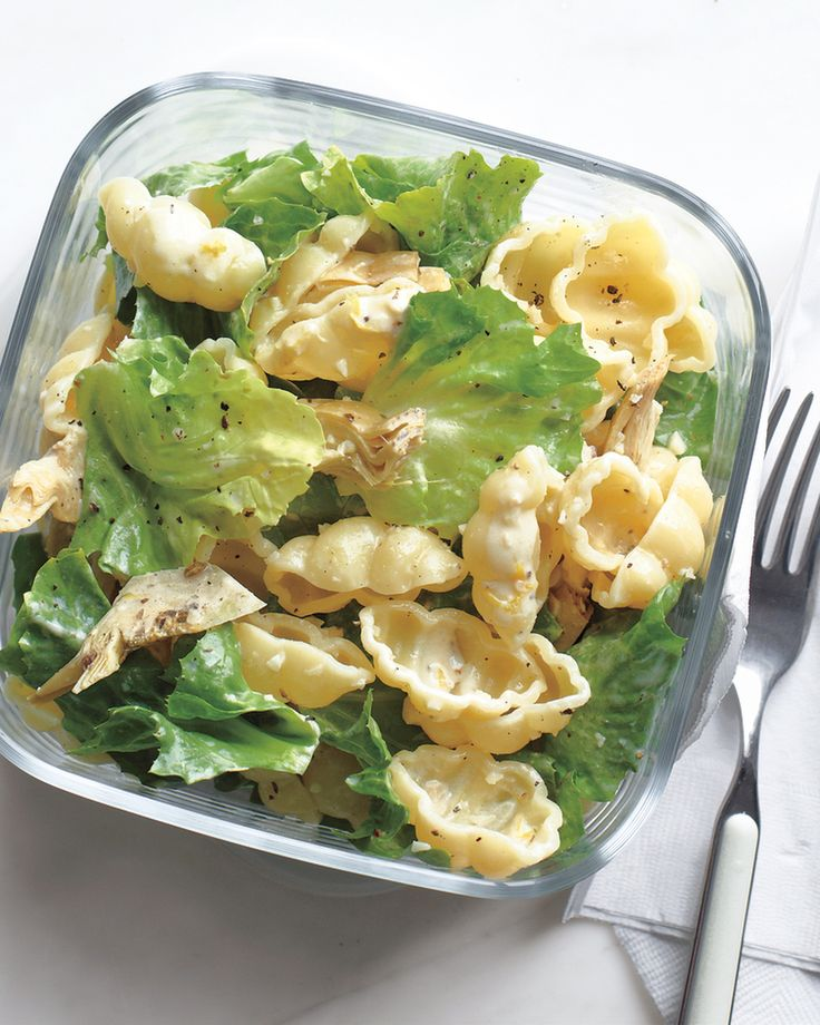 This light pasta salad makes a perfect portable lunchtime meal.