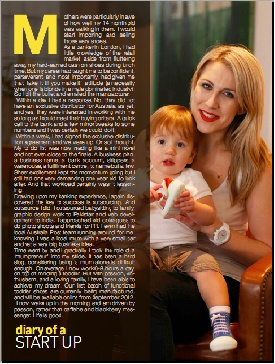 Article in Aspire Magazine, July 2012: From Banker to Mumpreneur