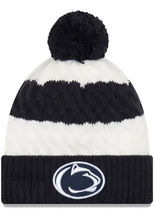 cbe41237165 New Era Penn State Nittany Lions Womens Navy Blue Layered Up Knit ...
