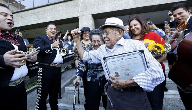 91-Year-Old Immigrant Becomes U.S. Citizen Just In Time To Vote