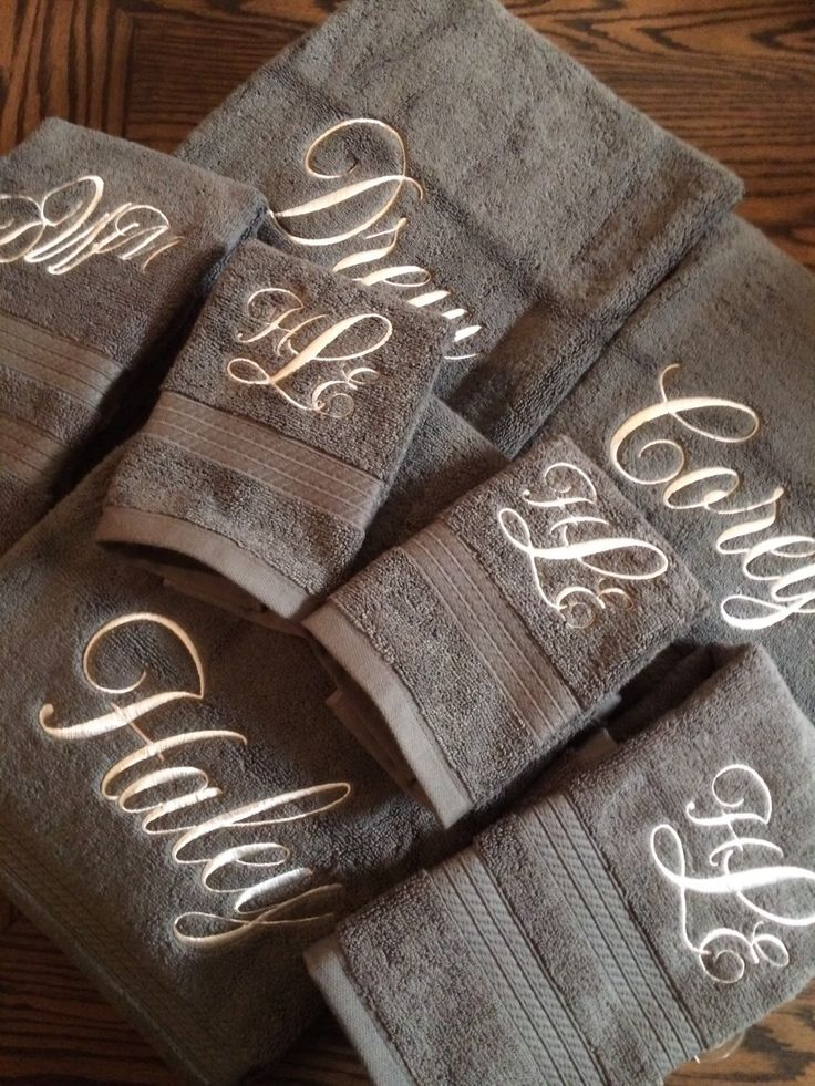 A personal favorite from my Etsy shop https://www.etsy.com/listing/259976568/extra-large-set-monogrammed-towels