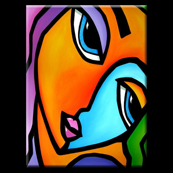 Abstract painting Modern pop Art Contemporary large by fidostudio