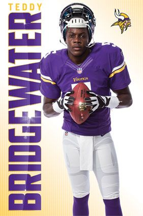 Minnesota Vikings - Teddy Bridgewater 2014 | NFL | Sports | Hardboards | Wall Decor | Pictures Frames and More | Winnipeg | Manitoba | MB | Canada https://www.fanprint.com/licenses/minnesota-vikings?ref=5750