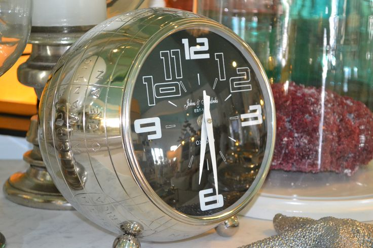 Stainless clock.