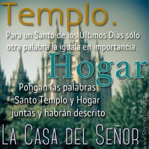 Cita del #PresPacker sobre el #Templo #Mormon y el #Hogar #Soymormon