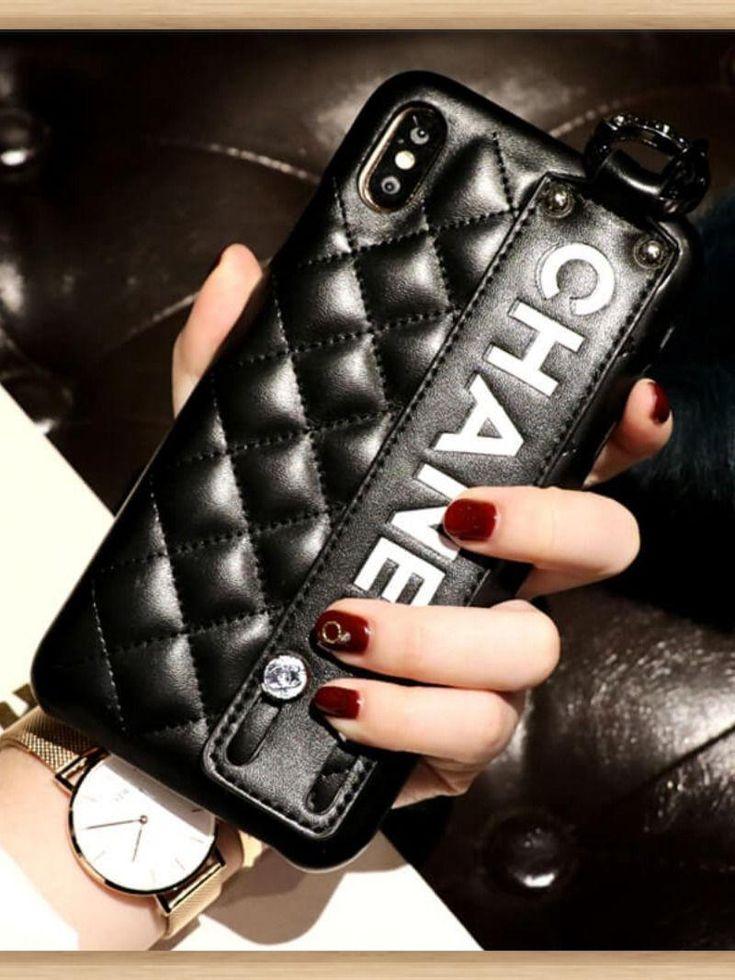 Chanel iphone case black 11 pro xs max xr 8 plus luxury