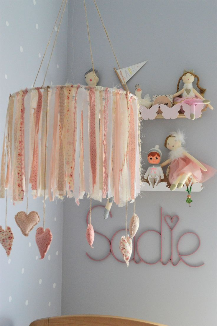 Excited to share the latest addition to my #etsy shop: Baby Mobile, Vintage Inspired, Nursey, Nursery Decor, Doily, Dream catcher Mobile, Pink and White, Little Girls Room, Boho Chic, Boho Decor #mobile #nurserydecor #vintage #bedroom #beige #babyshower #pink #homedecor #housewares