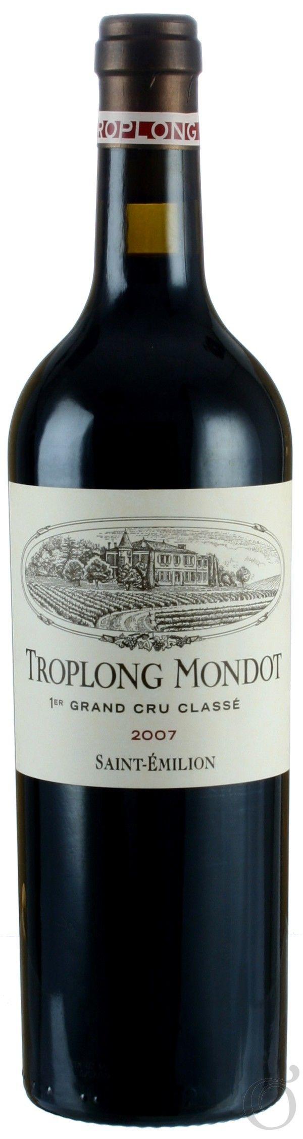 Chateau Troplong Mondot (2007) St.-Emilion 1er Grand Cru Classe , Cabernet Sauvignon,80% Cabernet Franc10%, Merlot10% St.-Emilion, Bordeaux, France
