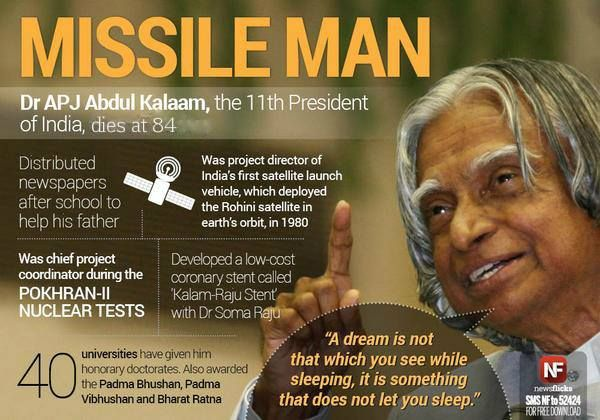 Dr. APJ Abdul Kalam is no more.. Long Live the Inspiration... #RIPKalam