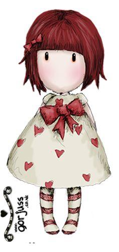 Girl in hearts - Ilus. Gorjuss