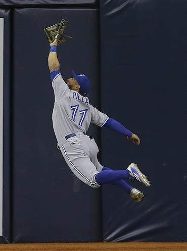 Kevin Pillar doing what he does best April 4 2016