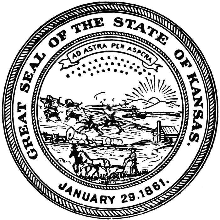 Kansas Seal Coloring Page