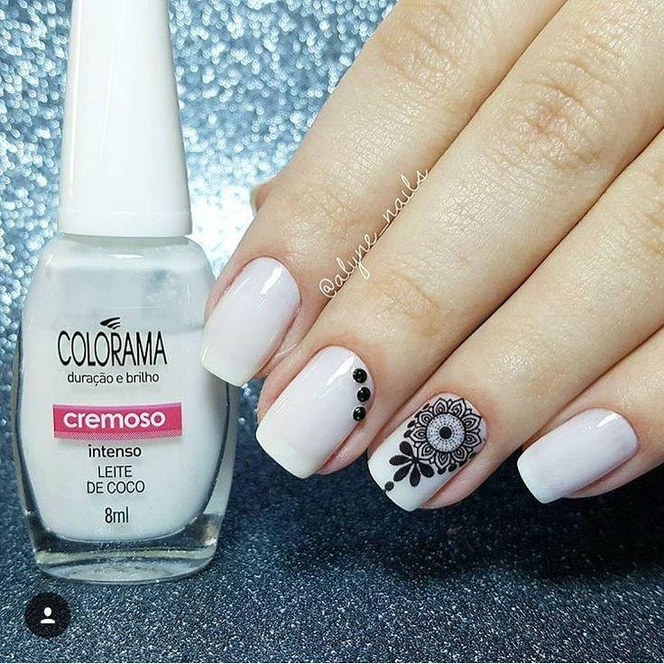 "30 curtidas, 1 comentários - Inspirações para as unhas (@keycacau) no Instagram: ""@alyne_nails #unhaskeycacau #unhasdecoradas #unhasdediva #nailart"""