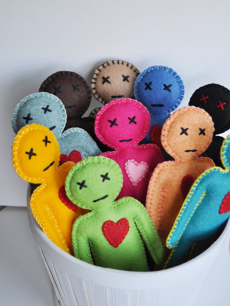 Voodoo Doll pincushion -  .... you can keep all your needles in one place and also release pent up anger, stabbing the doll... in any part you want ;)  It will make a great desk companion and it's guaranteed so be a good source of stress release.