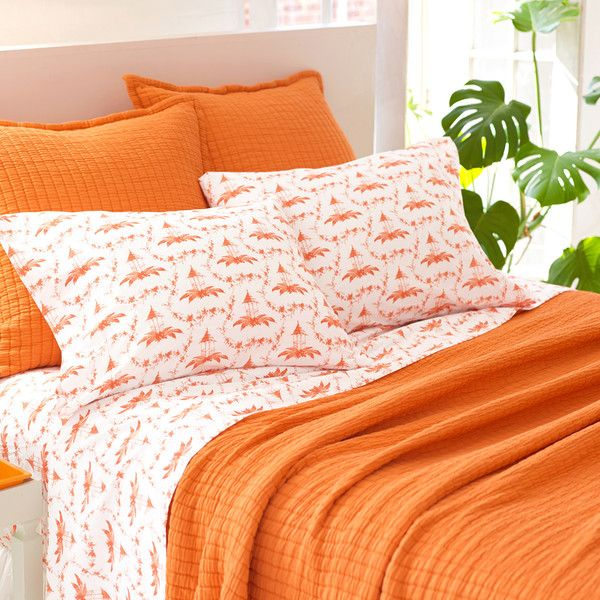 pine cone hill boyfriend orange matelasse coverlet 243 liked on polyvore featuring home bed u0026 bath bedding quilts cotton coverlet king quilt