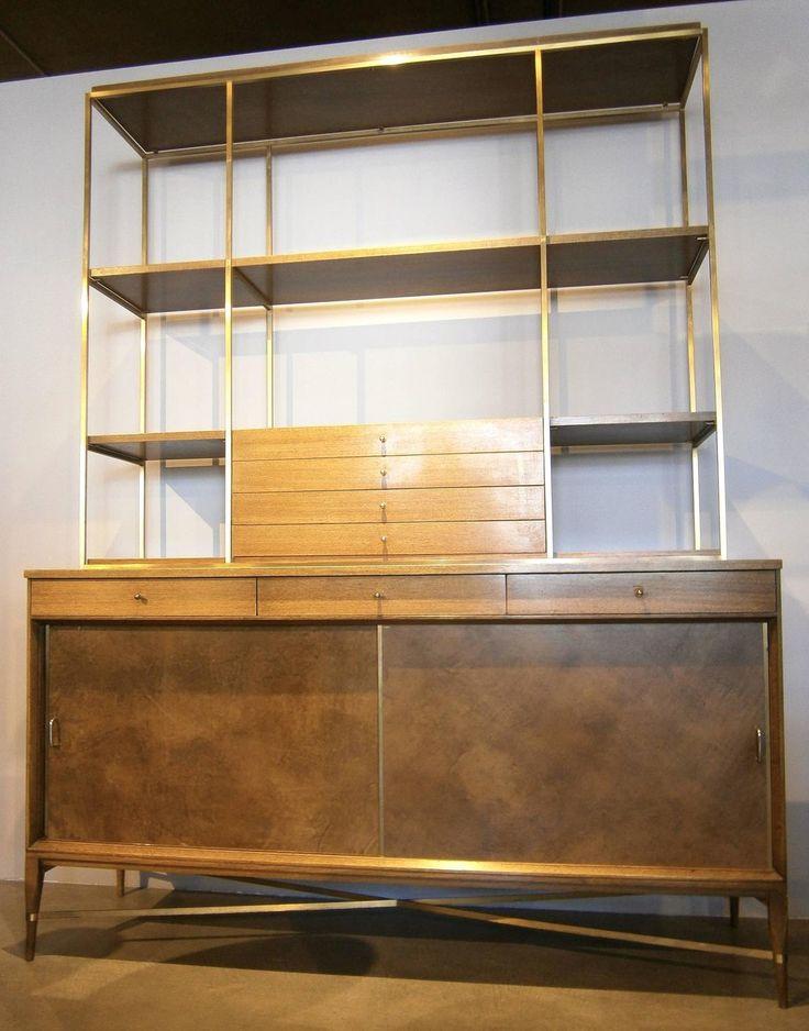 paul mccobb calvin line mahogany sideboard with bookshelf top c 1950s